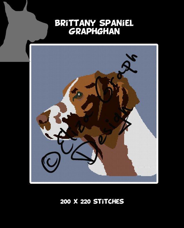 Brittany Spaniel Crochet Graphghan Blanket Pattern