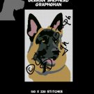 German Shepherd Crochet Graphghan Blanket Pattern