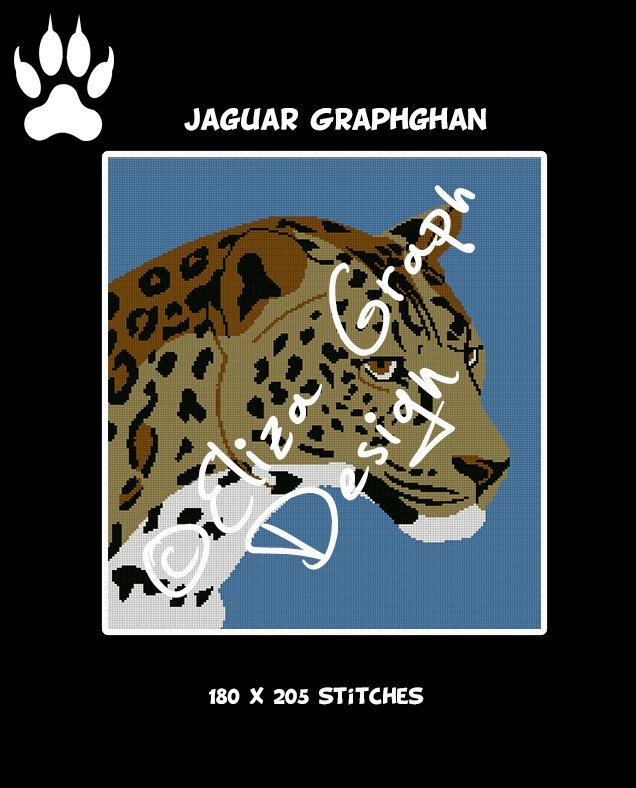 Jaguar Crochet Graphghan Blanket Pattern