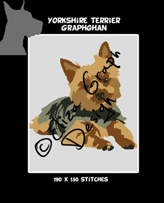 Yorkshire terrier Crochet Graphghan Blanket Pattern