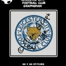 Leicester City Football Club logo crochet graphghan blanket pattern