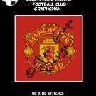 Manchester United Football Club logo crochet graphghan blanket pattern
