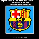 Barcelona Football Club logo CROSS STITCH Pattern, CROCHET Graphghan Blanket Pattern