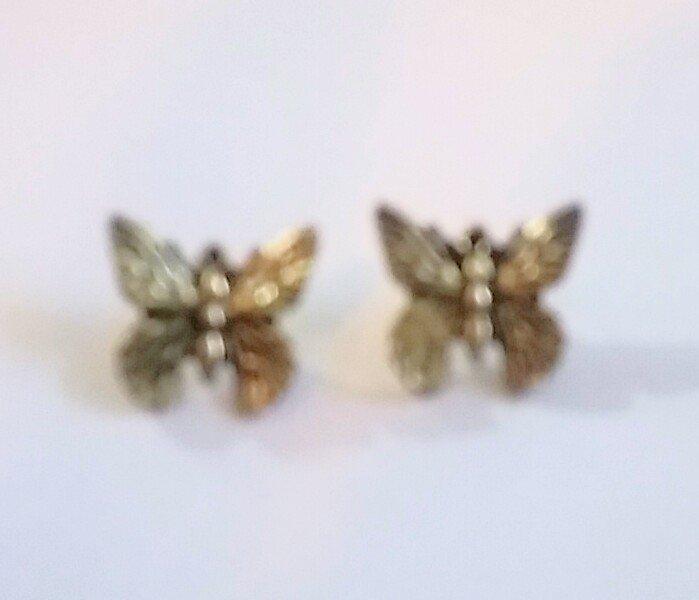 Antique style butterfly stud earrings