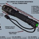 800 LUMEN POLICE FLASHLIGHT
