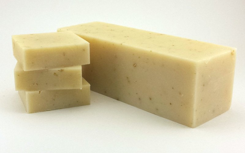 Goat milk soap loaves 10