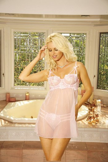Pink Baby Doll Size: 1X (Plus Size Lingerie)