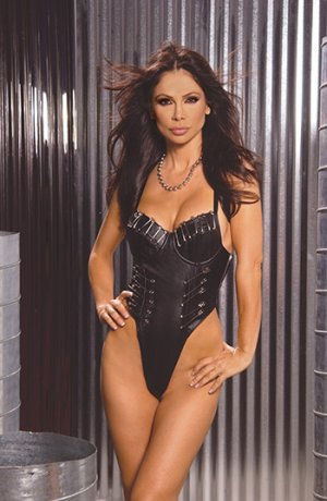 Underwire Leather Teddy w/ Jumbo Safety Pins Size: 3X (Plus Size Lingerie)