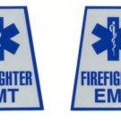 Reflective Helmet Trapezoid - FIREFIGHTER EMT