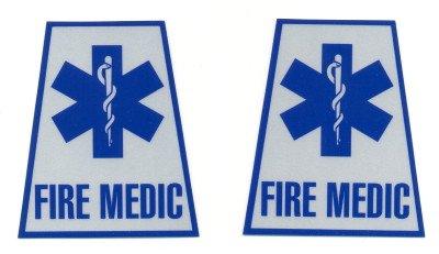 Reflective Helmet Trapezoid - FIRE MEDIC