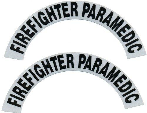 Reflective Helmet Crescent -FIREFIGHTER PARAMEDIC