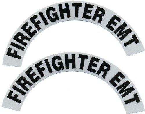 Reflective Helmet Crescent - FIREFIGHTER EMT