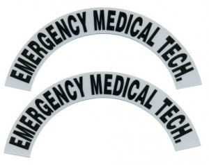 Reflective Helmet Crescent - EMERGENCY MEDICAL TECH.