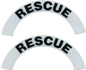 Reflective Helmet Crescent - RESCUE