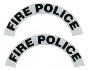Reflective Helmet Crescent - FIRE POLICE