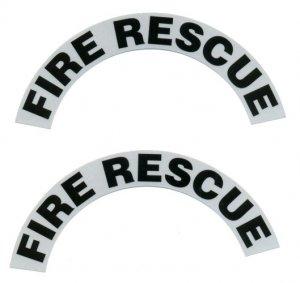 Reflective Helmet Crescent - FIRE RESCUE