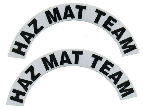 Reflective Helmet Crescent - HAZ MAT TEAM