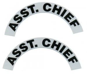 Reflective Helmet Crescent - ASST. CHIEF