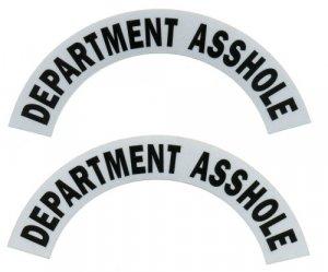 Reflective Helmet Crescent - DEPARTMENT A__HOLE