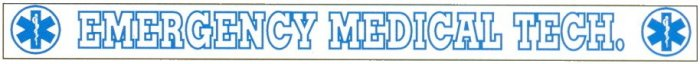 Inside Window Banner Decals - EMERGENCY MEDICAL TECH