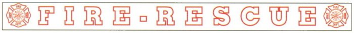 Outside Window Banner Decals - FIRE-RESCUE