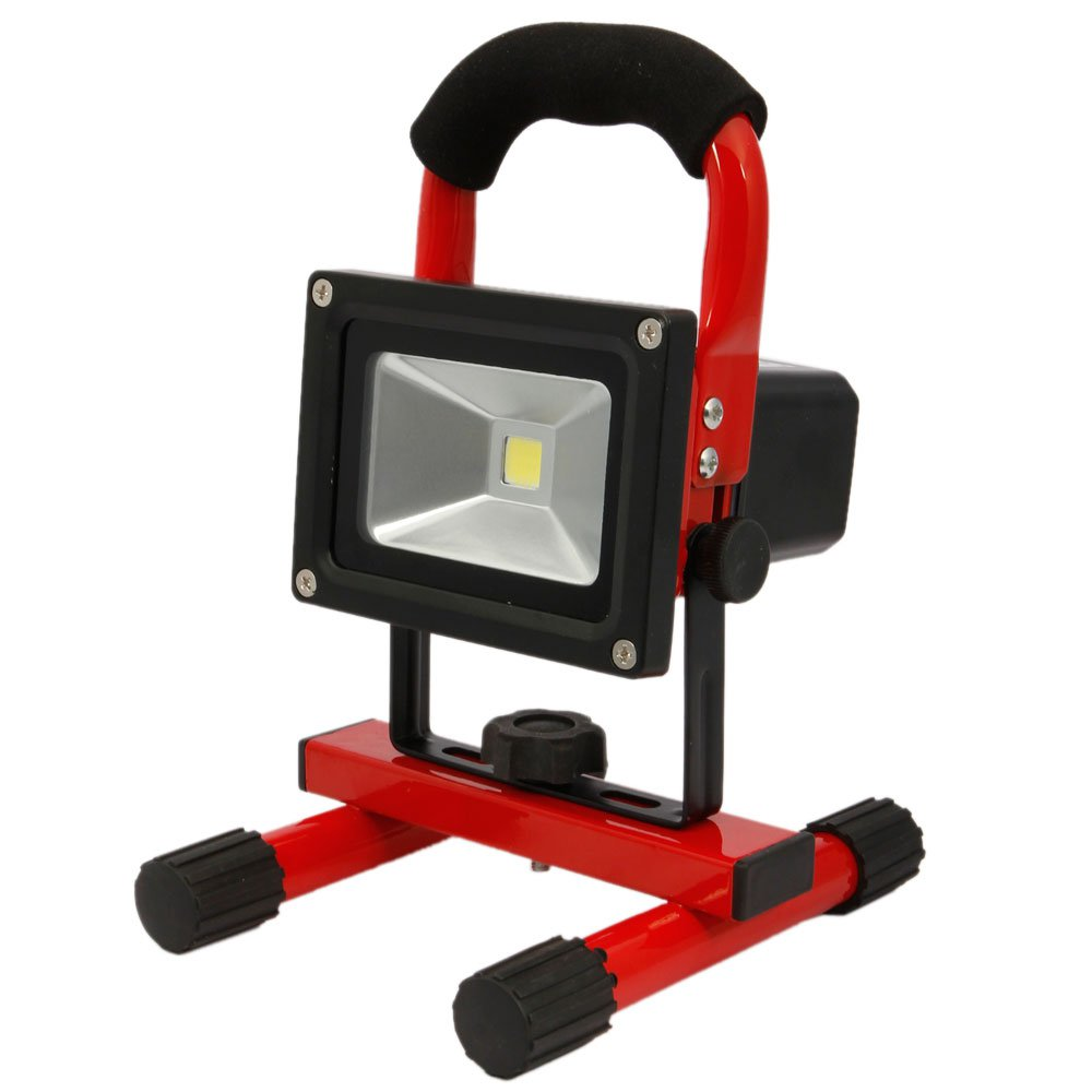 5W 6500K White Beam Rechargeable LED Lamp US Plug Red