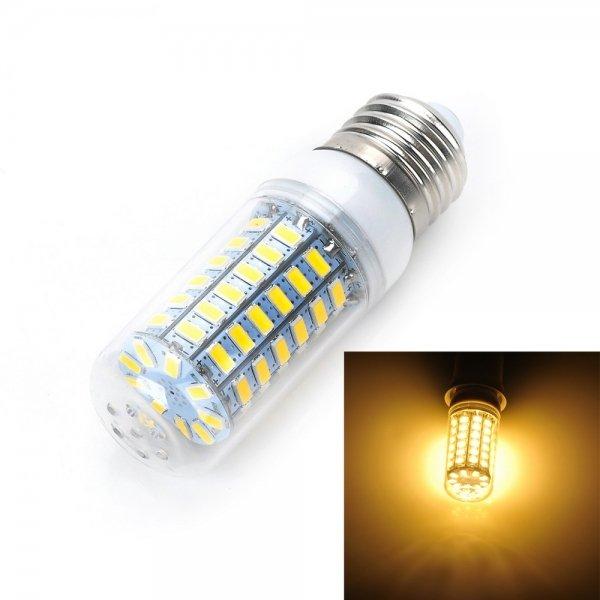 E27 12W 920lm 3500K Warm White Light 69-SMD 5730 LED Corn Lamp Bulb (AC 110V)