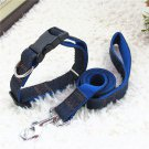 4FT Denim & Nylon Dog Pet Collar Traction Rope