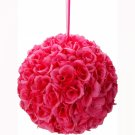 New 9.84 inch Wedding Decor Romantic Super Flower Kissing Ball Oxfor-Pink