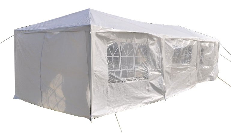 10 x 30 Foot Eight Sides Two Doors Two Bedrooms Waterproof Foldable Tent White