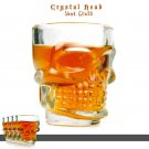 4-Pack Crystal Skull Head Vodka Whiskey Shot Glass Cups