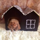 Super Soft British Style Pet House for dogs cats Size M Coffee