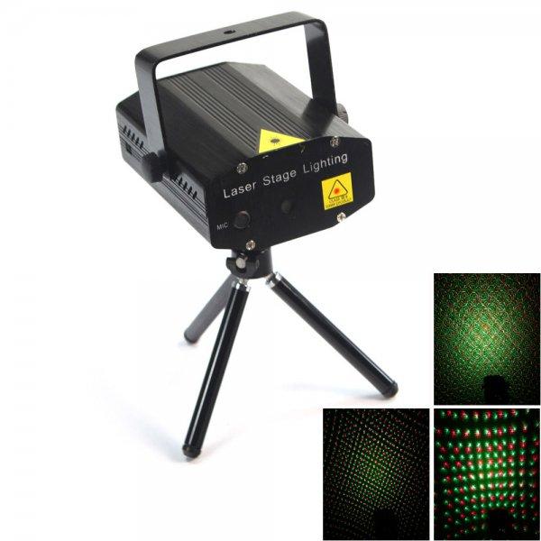 Mini Green & Red Laser Stage Lighting Black