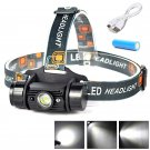 1500 Lumen USB Induction Headlight + 18650 Battery & USB Cable