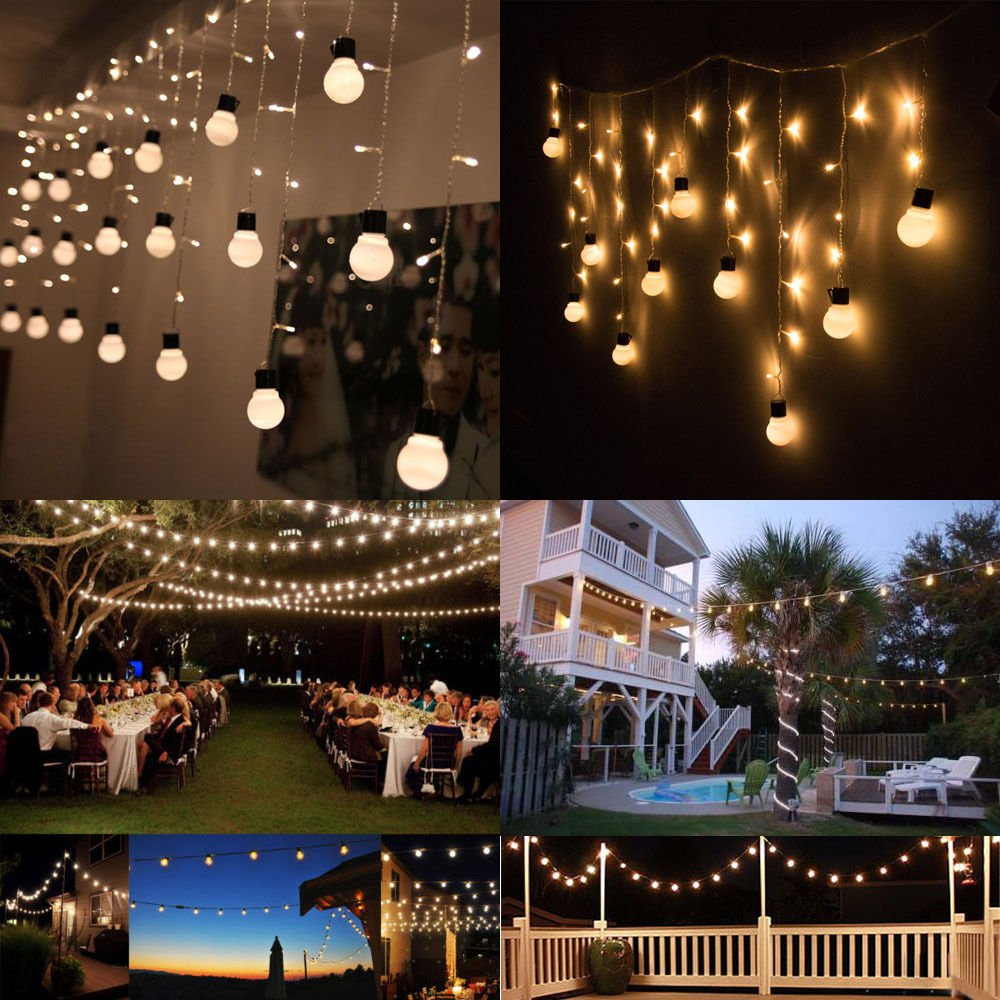 25PCS Light Bulb Outdoor Yard Lamp String Light