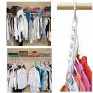 8-Pack Hanger Closet Triple Space Saver Organizer White