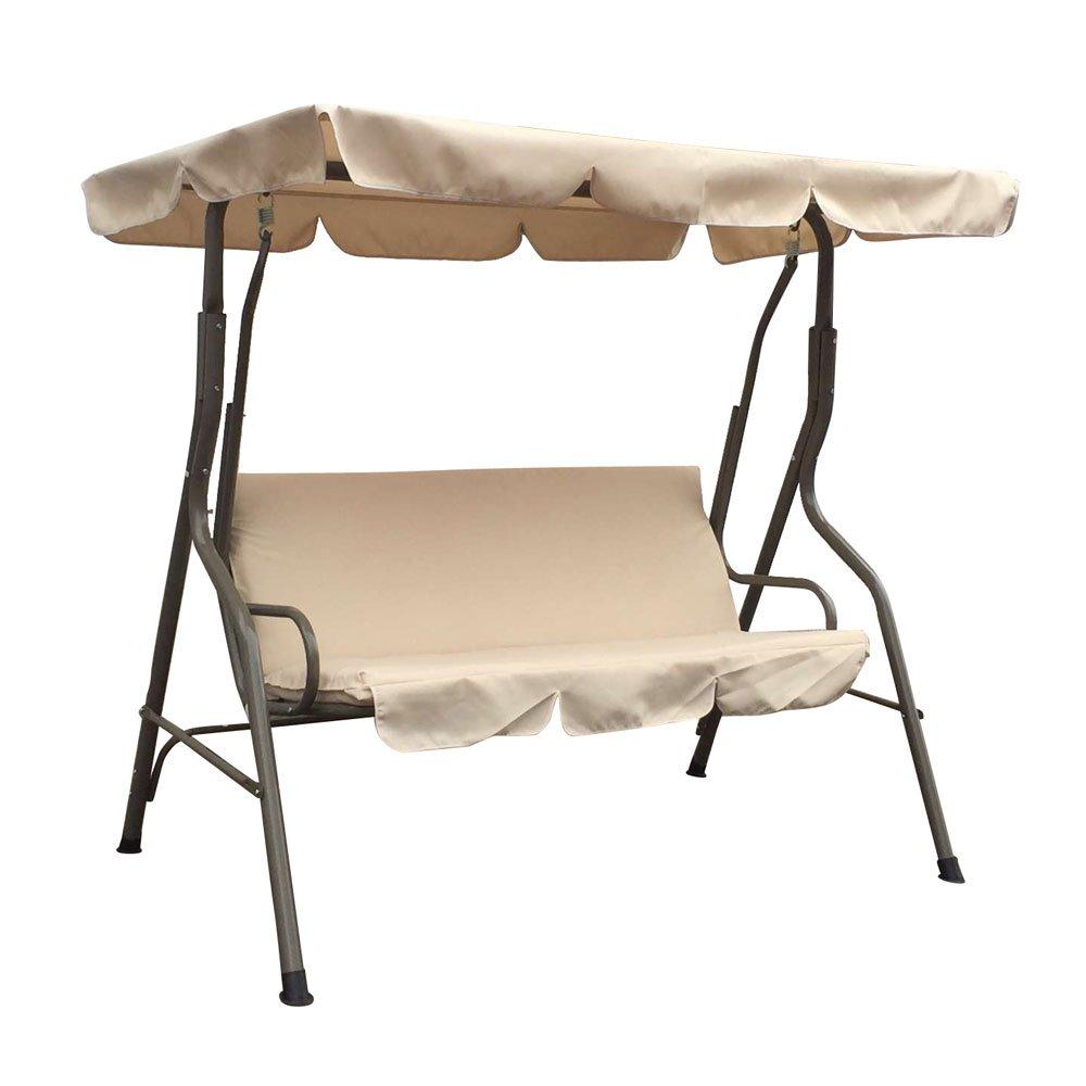 Portable Entertainment Double Seats Swing Beige