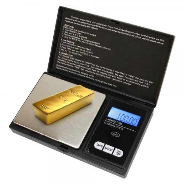 100g x 0.01g LCD Digital Jewelry Pocket Scale with Auto off