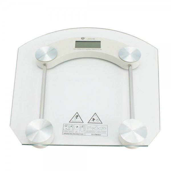 "2003B 2.5"" LCD Toughened Glass LCD Body Watcher Digital Bathroom Scale 330lb/150kg x 0.1kg"