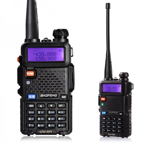 "BAOFENG 1.5"" LCD 5W 136~174MHz / 400~470MHz Dual Band Walkie Talkie with 1-LED Flashlight (Black)"