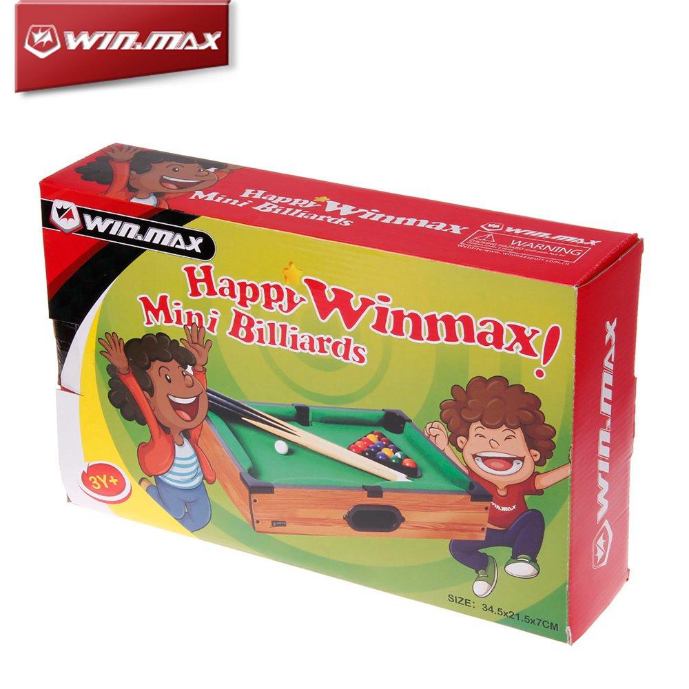 Winmax Mini Pool Table Green & Black & Wood Color