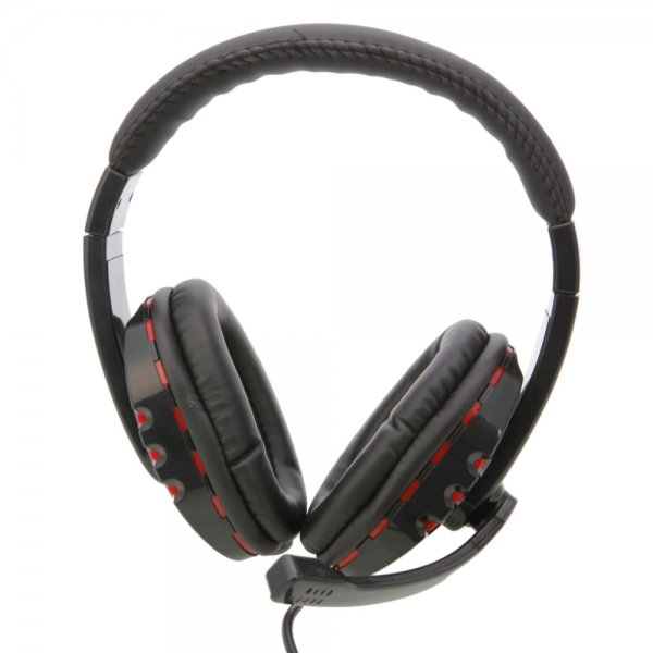 Headset with Microphone for PS3 / PC Black and Red