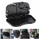 Car Dining Table Folding Drink Holder Car Pallet Back Seat Water Car Cup Holder Black