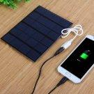 3.5W 6V Solar Panel DIY Power Bank Charger Black
