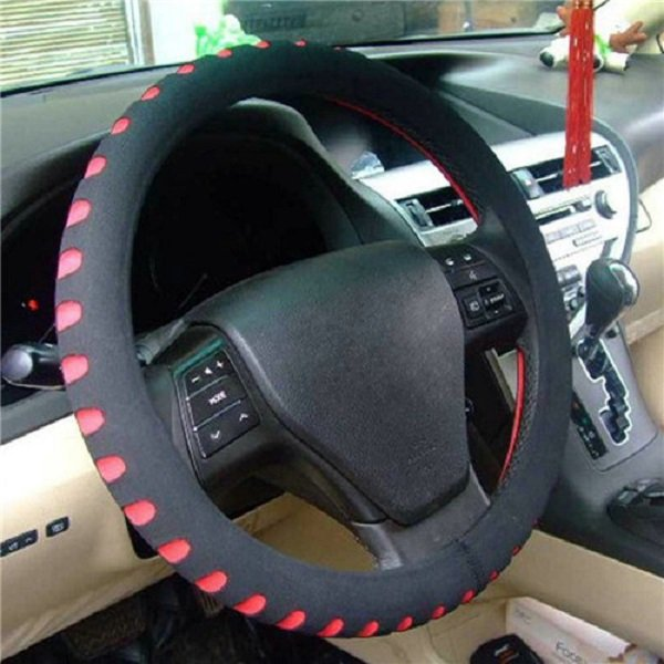 Economic Personality Automotive Supplies Steering Wheel Cover Red