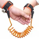 1.5m Children Anti-lost Wristband Elastic Safety Leash Harness Orange