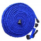 100FT 7-Mode Expandable Garden Water Hose Pipe with Spray Nozzle Blue