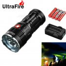 Ultrafire XML-T6 9500LM 7-LED 3 Modes Super Bright White Flashlight Torch Black