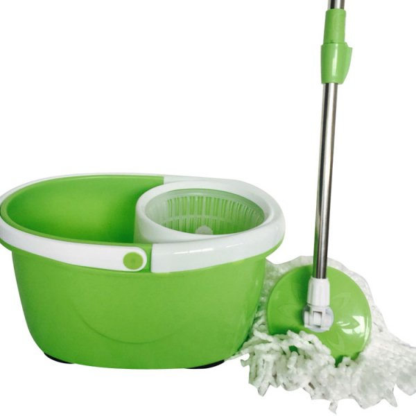 Rotation Mop Bucket Set Cleaning 360 Rotation Easy Wring Reusable Mop Head Green