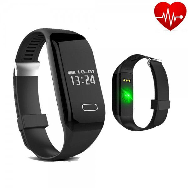 H3 Heart Rate Monitor Touch Button Bluetooth 4.0 Waterproof Smart Bracelet Fitness Wrist Band Black